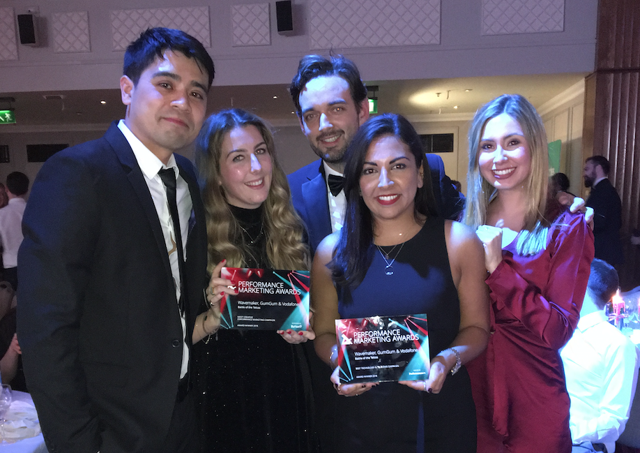 GumGum takes home two prestigious Performance Marketing awards with Vodafone and Wavemaker